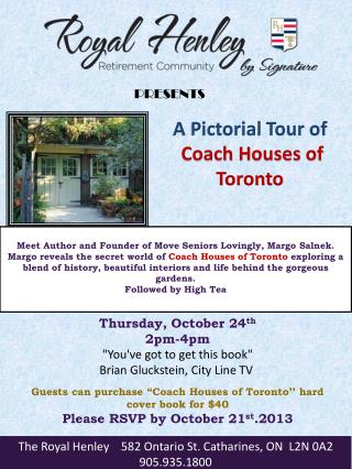 A Pictorial Tour of Coach Houses of Toronto