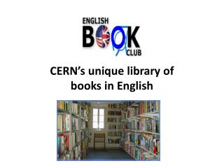 CERN's unique library of books  in English