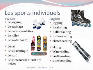 Les sports  individuels