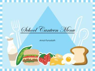School Canteen Menu