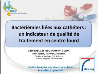Bactériémies liées aux cathéters: un indicateur de qualité de traitement en centre lourd