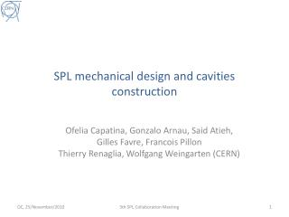SPL mechanical design and cavities construction