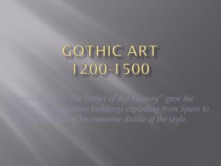 Gothic Art 1200-1500