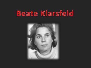 Beate Klarsfeld