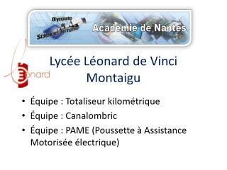 Lycée Léonard de Vinci Montaigu