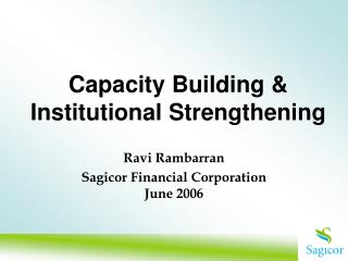 Capacity Building  Institutional Strengthening