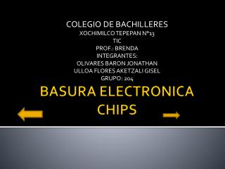 BASURA ELECTRONICA CHIPS