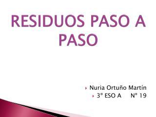 RESIDUOS PASO A PASO