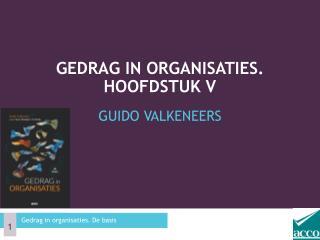Gedrag in organisaties. Hoofdstuk V
