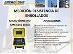 MEDICI N RESISTENCIA DE ENROLLADOS