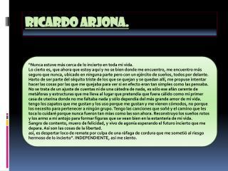 RICARDO ARJONA.