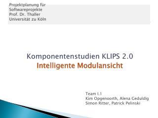 Projektplanung f�r  Softwareprojekte  Prof. Dr. Thaller  Universit�t zu K�ln