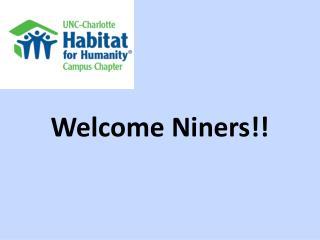 Welcome  Niners !!