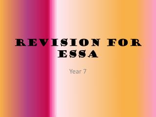 Revision for  Essa