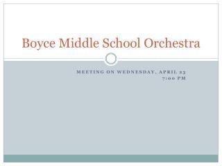 Boyce Middle School Orchestra