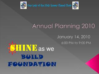 Annual Planning 2010