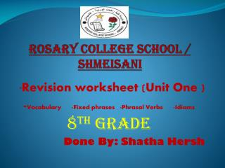 Rosary college school /  shmeisani
