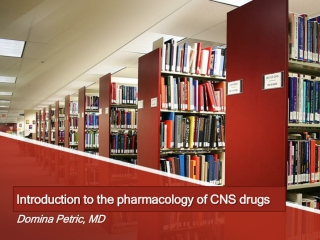 Introduction into Pharmacology