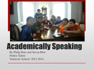 Academically Speaking