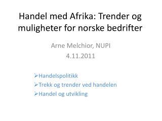 Handel med Afrika: Trender og muligheter for norske bedrifter