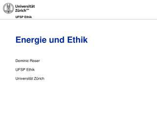 Energie und Ethik