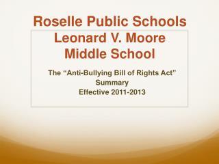 Roselle Public Schools Leonard V. Moore Middle School