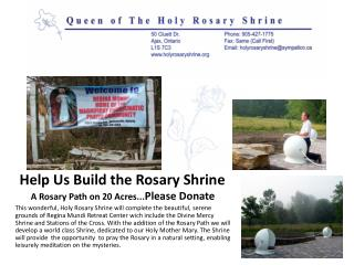 Help Us Build the Rosary Shrine