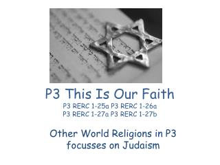P3 This Is Our Faith  P3 RERC 1-25a P3 RERC 1-26a P3 RERC 1-27a P3 RERC 1-27b