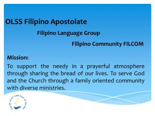 OLSS  Filipino  Apostolate