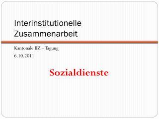 Interinstitutionelle  Zusammenarbeit