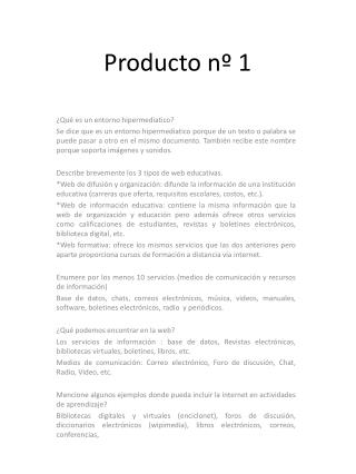 Producto nº 1