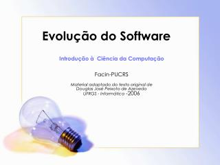 Evolu  o do Software