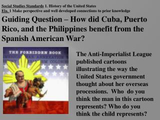 Social Studies Standards  1. History of the United States