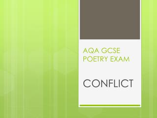 AQA GCSE POETRY EXAM