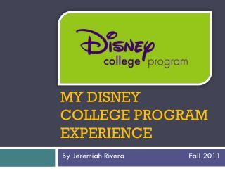 My DISNEY  College Program Experience