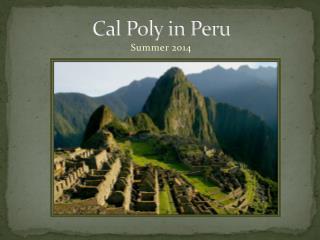 Cal Poly in Peru