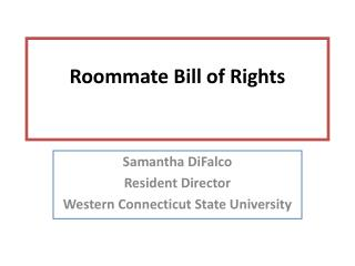 Roommate Bill of Rights
