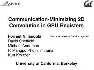 Communication-Minimizing 2D Convolution in GPU Registers