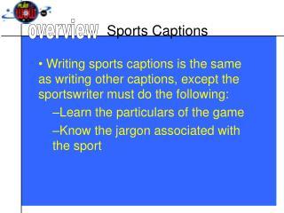 Sports Captions