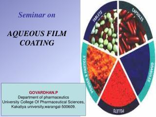 Seminar on AQUEOUS FILM COATING