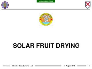 SOLAR FRUIT DRYING