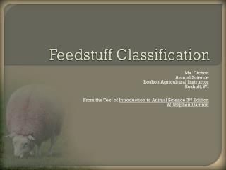 Feedstuff Classification