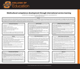 Multicultural competence development through international service learning
