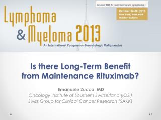 Is there Long-Term Benefit  from  Maintenance  Rituximab?