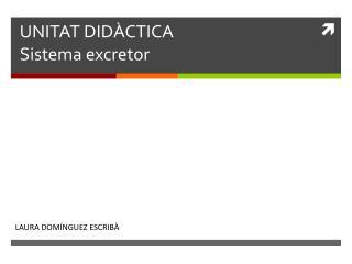 UNITAT DID À CTICA Sistema excretor