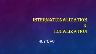 Internationalization & localization