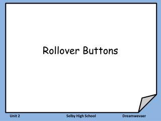 Rollover Buttons