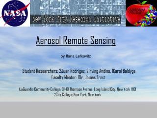 Aerosol Remote Sensing  by Ilana Lefkovitz