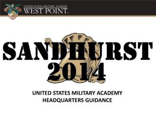 UNITED STATES MILITARY ACADEMY HEADQUARTERS GUIDANCE
