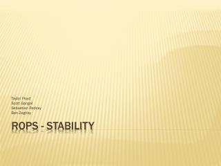 ROPS - Stability